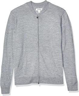 Amazon Brand - Goodthreads Men's Merino Wool Bomber Sweater