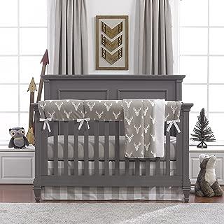 Buck Woodland (Taupe) Bumperless Crib Bedding 4 pc. Set