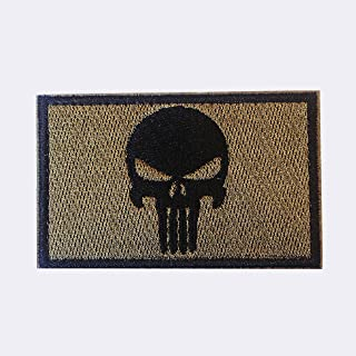 Tactical Military Morale Patch - Voted Best Quality Patches Perfect for Hats, Jackets, Backpacks, and More (Punisher)
