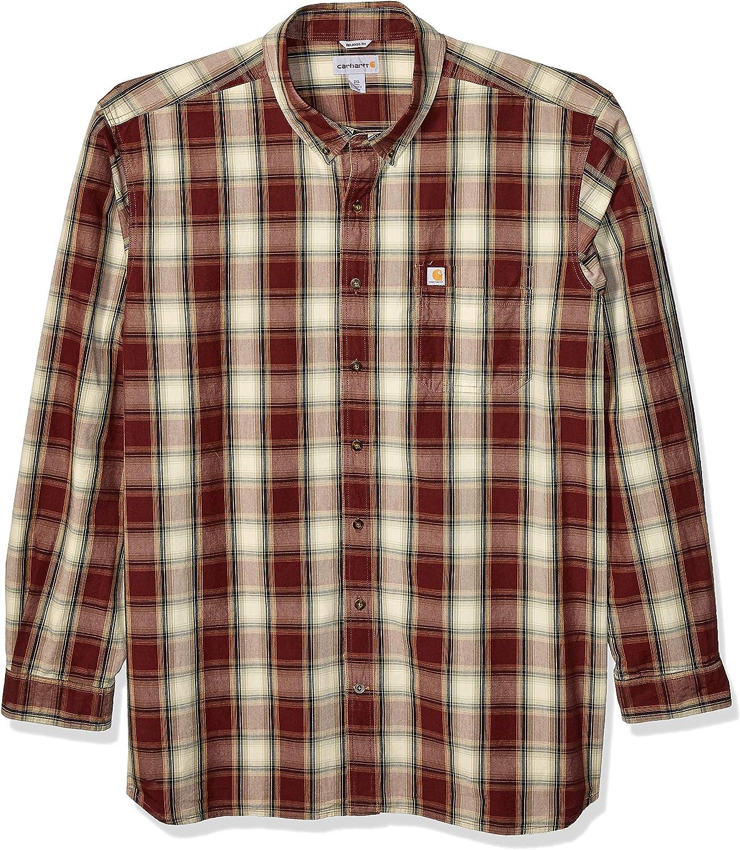 Carhartt Men's Tall Size Big & Tall Essential Plaid Button Down Long Sleeve Shirt