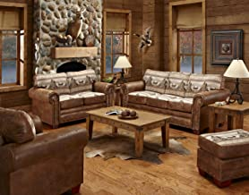American Furniture Classics Alpine Lodge Sofa Sleeper, Love Seat, Chair & Ottoman, Brown