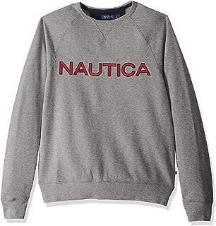 Nautica Long Sleeve Solid French Rib Crew Neck Sweatshirt