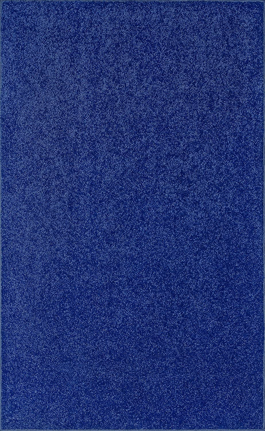American Bright Solid Color Area Rugs Spring new work one after another 8' 2' Blue Neon x Price reduction
