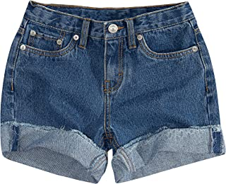 Girls' Little Denim Shorty Shorts, Strummer, 6X