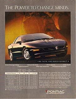 Print Ad: Black 1993 Pontiac Firebird, The Power the Change Minds