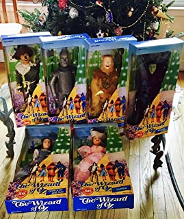 The Wizard of Oz 50th Anniversary DOLL SET of 6 Dolls w Dorothy, Wicked Witch, Glinda, Scarecrow, Tin Man & Cowardly Lion Dolls (1988 Multi Toys) by The Wizard of Oz 50th Anniversary