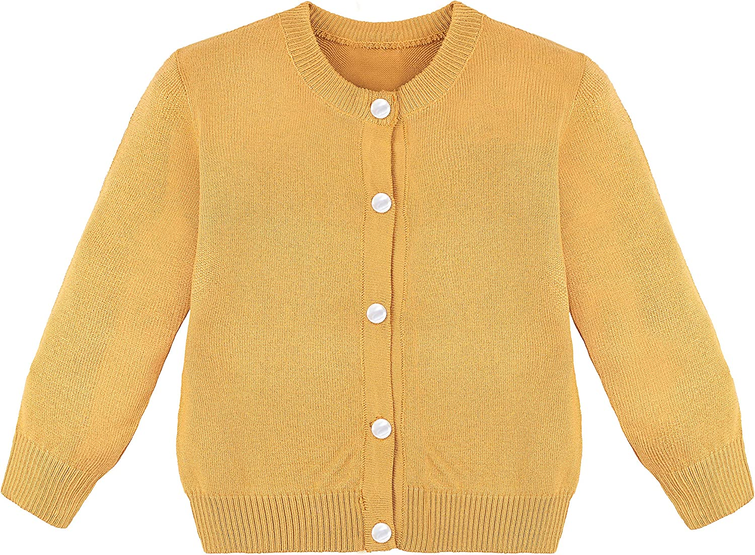 Lilax Little Girls' 70% OFF Outlet Knit Uniform Sleeve Long Cardigan Safety and trust Sweater