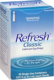 REFRESH Classic Lubricant Eye Drops Single-Use Containers 50 Each (Pack of 3)