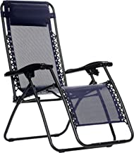 AmazonBasics Zero Gravity Reclining Lounge Portable Chair, Blue