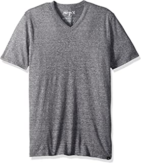 Hurley Men's Short Sleeve Staple Tri-Blend Crew Neck Vneck Tee Shirt
