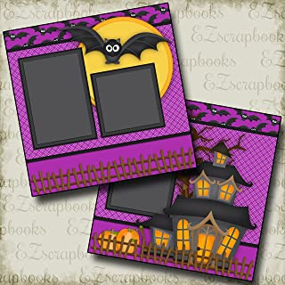 SPOOKHOUSE - Premade Scrapbook Pages - EZ Layout 2340