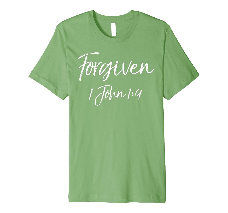 1 John 1:9 Bible Verse Quote Gift Salvation Saying Forgiven Premium T-Shirt
