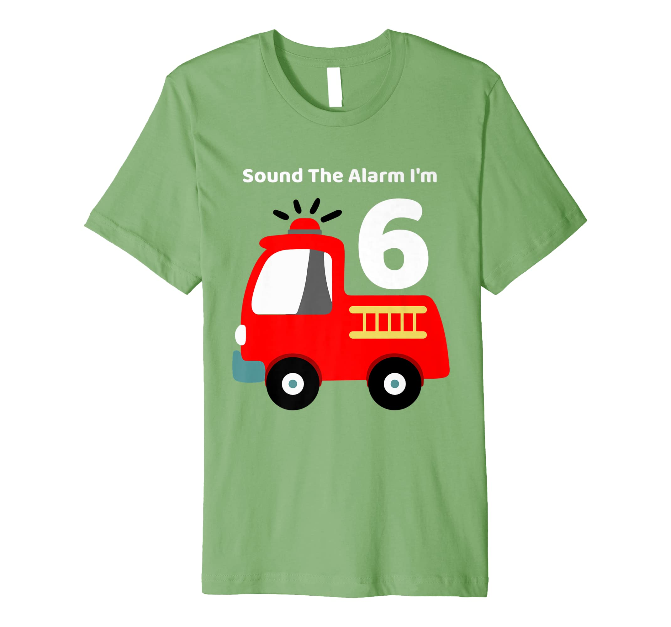 Amazon Fire Fighter Truck 6 Year Old Birthday Shirt