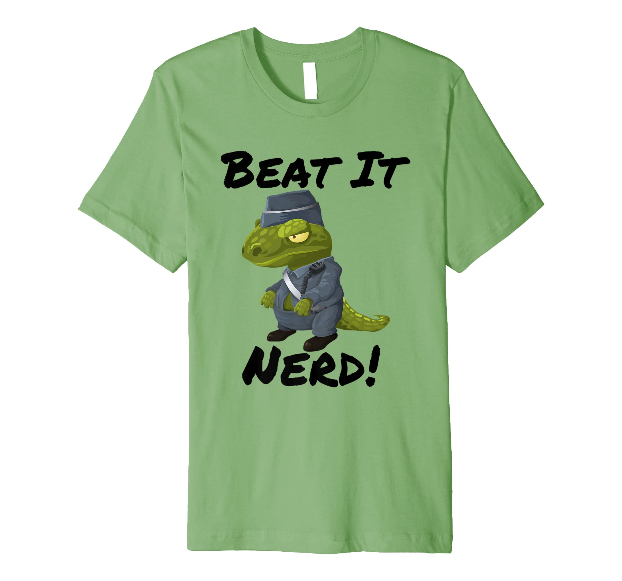 Beat it Nerd Dinosaur Premium T-Shirt-mt