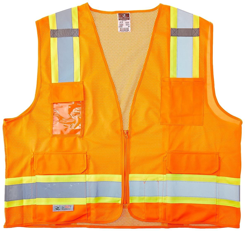 Radians SV6O2X Two Tone Surveyor Class 2 Safety Vest, 2X-Large, Orange