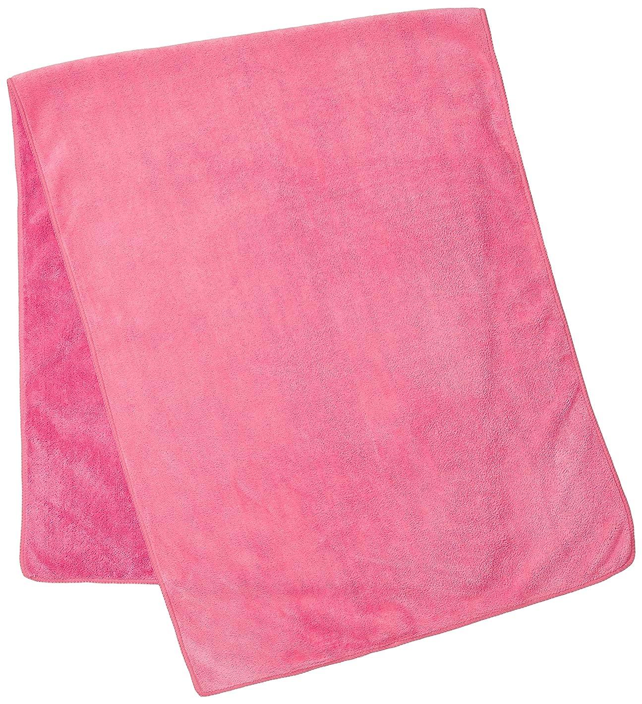 先不毛の目に見えるSHO-BI バスタオル ピンク 27×17×4cm
