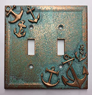 Anchors Double Light Switch Cover (Aged Patina)