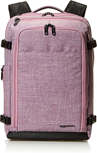 AmazonBasics Slim Carry On Laptop Travel Weekender Backpack - Purple