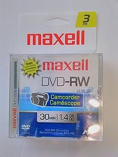 Maxell DVD-RW 3-pack Camcorder (30 min, 1.4 GB)