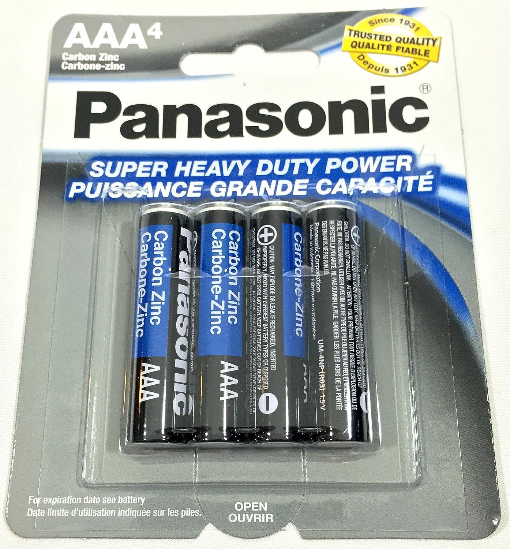 8pc Panasonic AAA Batteries Super Heavy Duty Power Carbon Zinc Triple A Battery 1.5v