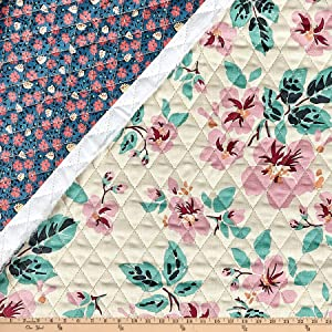 Paintbrush Studio Tiara Double Sided Quilt Floral Multi Fabric by the Yard