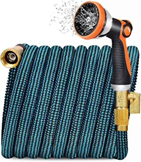 JOOIKOS Expandable Garden Hose 100ft – Water Hose with 10 Functions Nozzle and..