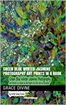 Green Blue Winter Jasmine Photography  Art Prints in a Book