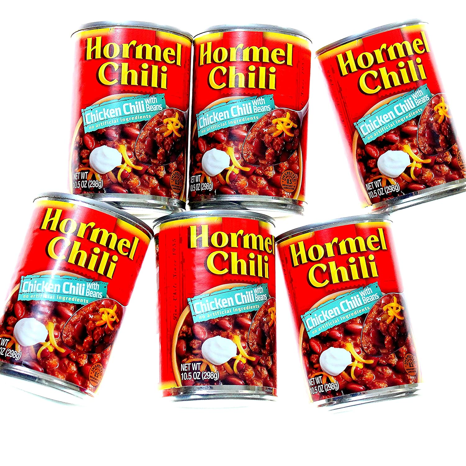Hormel Chicken Chili With Beans 10.5 6 Cans oz of Pack Spring Directly managed store new work one after another