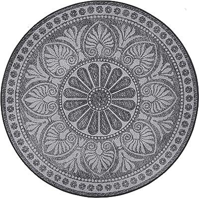 Wash + Dry Doormat, Polyamide, Gray, 145x145 cm