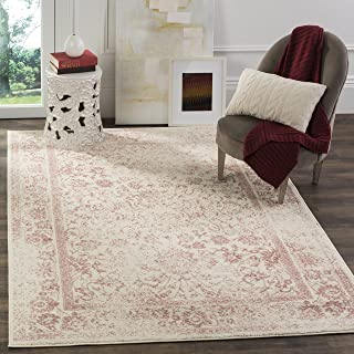 Safavieh Adirondack Collection ADR109H Ivory/Rose Vintage Oriental Distressed Area Rug..