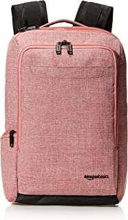 AmazonBasics Slim Carry On Travel Backpack, Salmon - Overnight