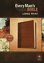 Every Man's Bible NLT, Large Print, TuTone (LeatherLike, Brown/Tan)