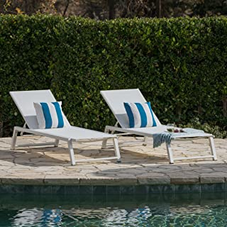 Best white aluminum lounge chairs Reviews