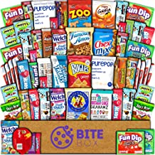 BiteBox Care Package (60 Count) Snacks Cookies Bars Chips Candy Ultimate Variety Gift Box Pack Assortment Basket Bundle Mixed Bulk Sampler Treats College Students Office Fall Back to School Halloween