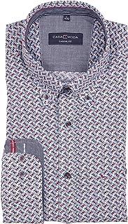 Casa Moda - Camisa para hombre, corte casual, estampado moderno