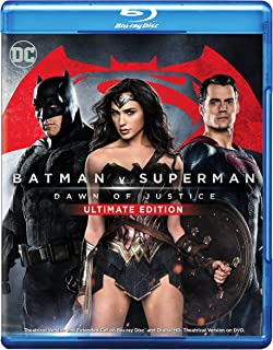 Batman v Superman: Dawn of Justice (Ultimate Edition Blu-ray + Theatrical Blu-ray)