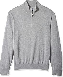 Dockers Men's Long Sleeve Quarter Zip Sweater