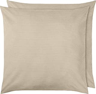 Amazon Basics Pillowcase, Beige, 65 x 65 cm