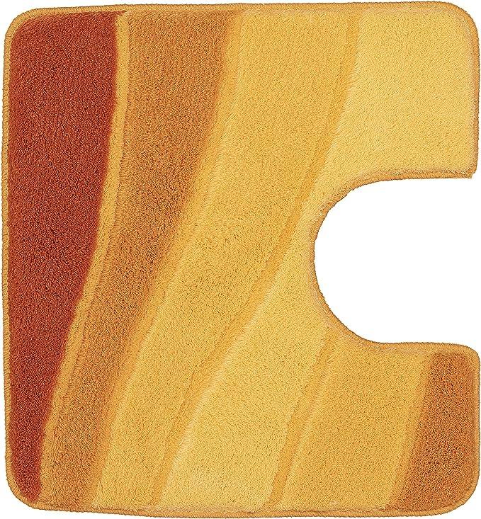 Vorleger mit Ausschnitt Meusch Laola Safran Gelb Orange Badteppich 55x50 cm