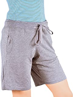 Maks Ladies Drawstring Cotton Lycra Euro Design Casual Sports Barmuda Shorts