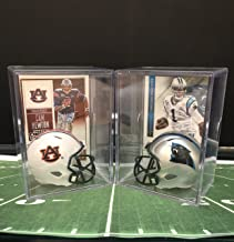 Cam Newton College and Pro Helmet Shadowbox w/card Set of 2