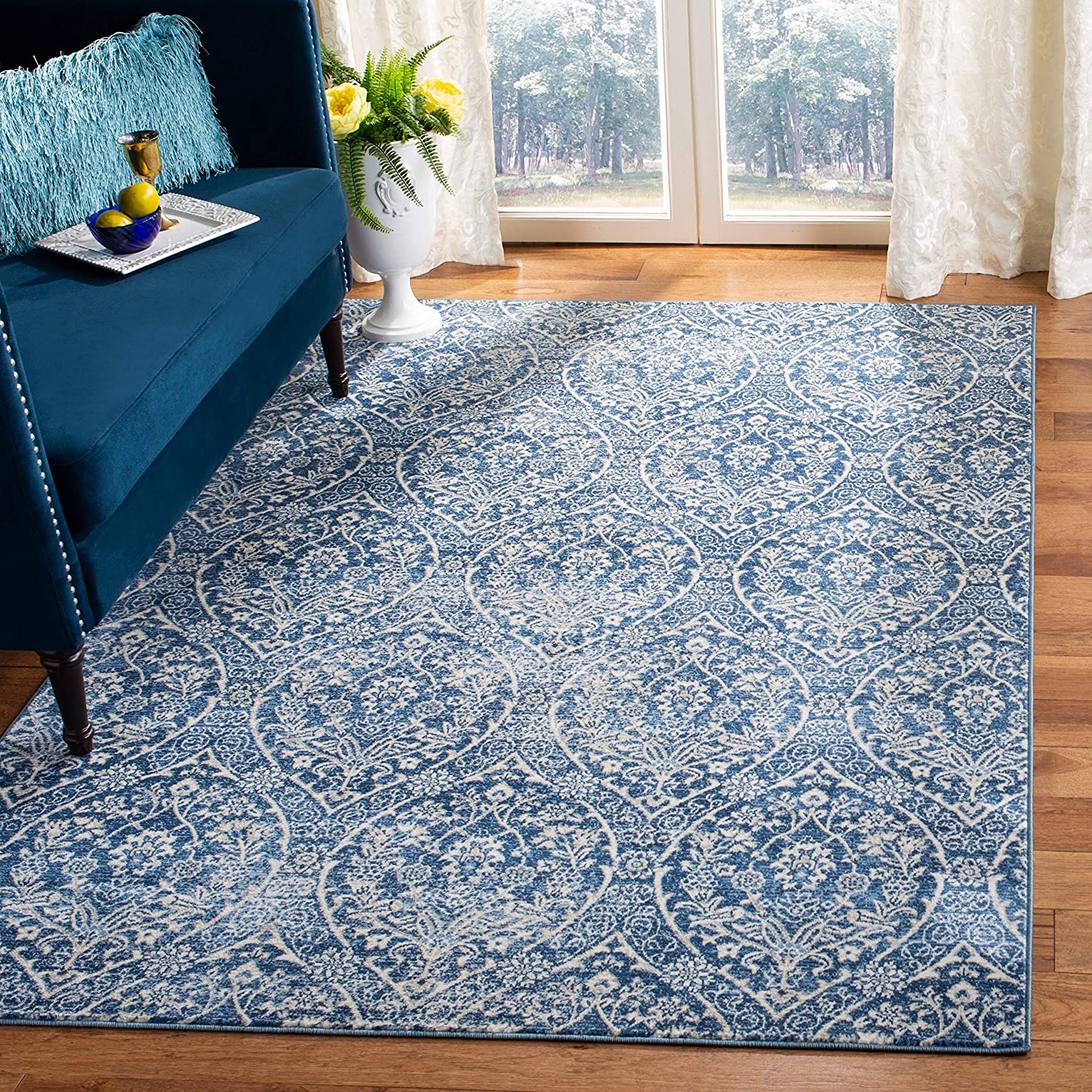 Safavieh Industry No. 1 Brentwood Collection BNT860M 4 years warranty Floral Trellis Ogee Damask