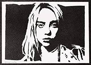 Poster Billie Eilish Handmade Graffiti Street Art - Artwork
