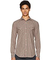 eleventy - Mini-Check Snap Western Shirt