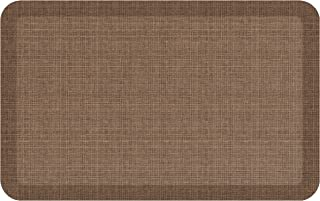 "NewLife by GelPro Anti-Fatigue Designer Comfort Kitchen Floor Mat, 20x32"", Tweed Light Walnut Stain Resistant Surface with 3/4"" Thick Ergo-foam Core for Health and Wellness"