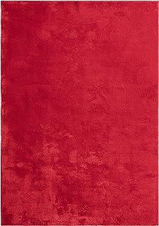 "Mia´s Teppiche ""Olivia"" woonkamer tapijt, laagpolig, 80x150 cm, rood"