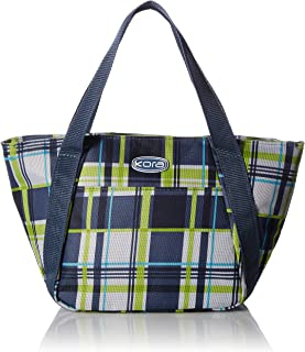 kora Insulated Fashion Lunch Tote, Style K5-113, Grey Plaid