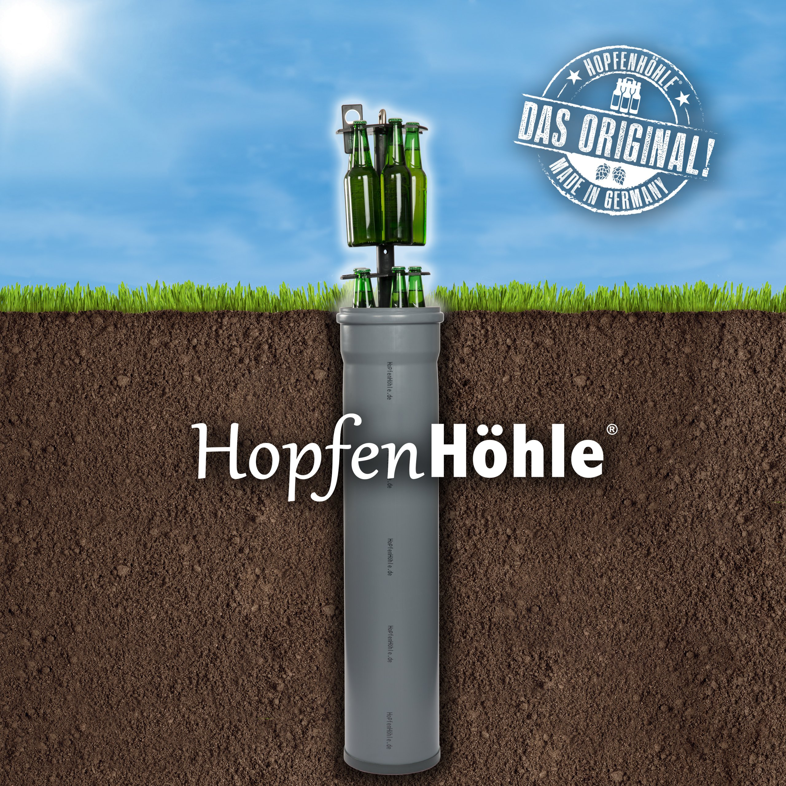 Hopfenhöhle Enfriador de Cerveza en el Suelo: Amazon.es: Jardín
