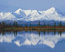 Nature's Finest No. 59 Cross Stitch Pattern Beautiful Snow Capped Mountains Across Lake Cross Stitch Pattern only (Not a kit)