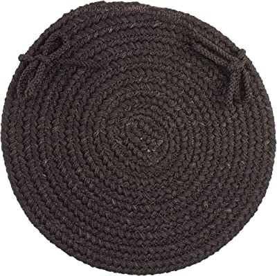 Solid Chair Pad, Black